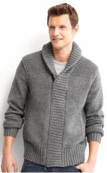 Heritage shawl-collar full-zip sweater