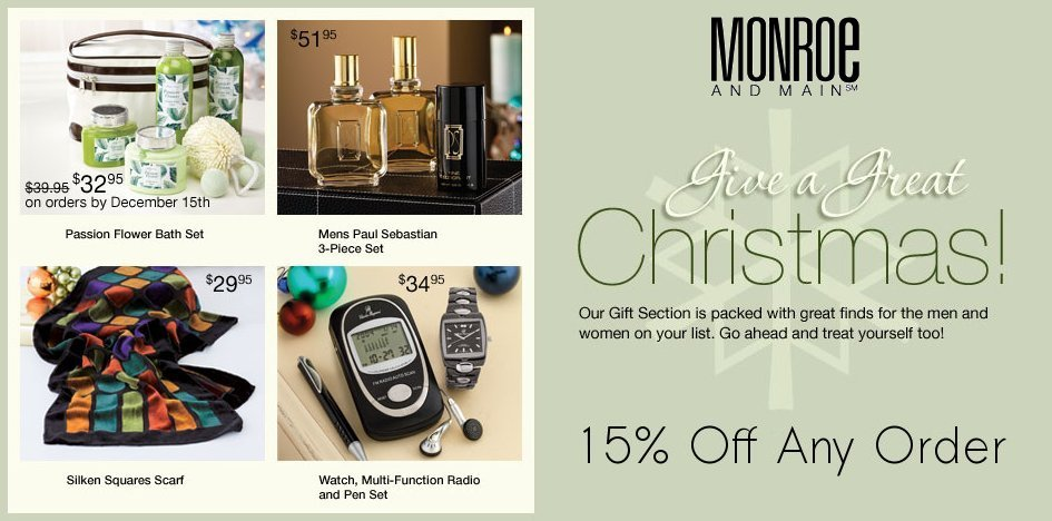 Monroe and Main's Christmas Gift Ideas