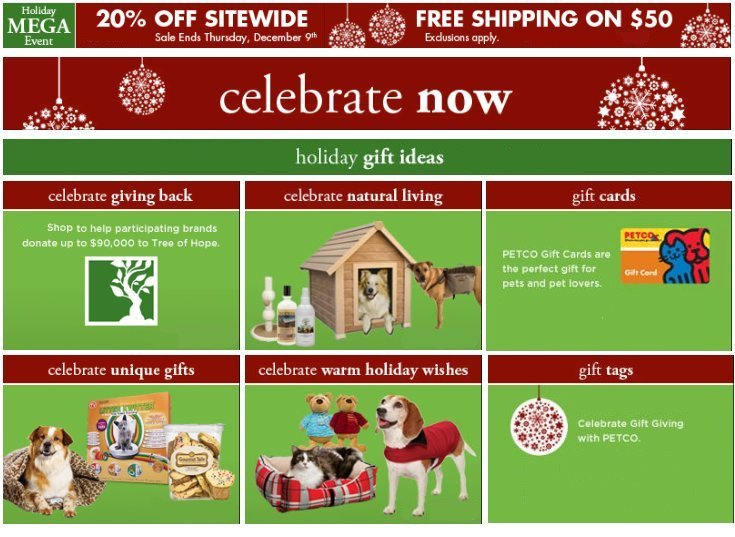 Celebrate Petco Holiday Mega Event!