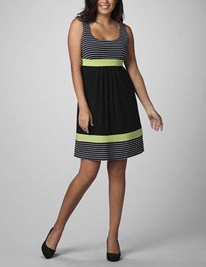 plus size Stripe Dress
