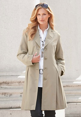 plus size Single Breasted Trench Coat