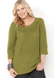 Shaker Knit Tunic Sweater