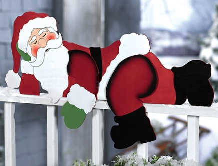 Funny Santa Christmas Yard Decoration