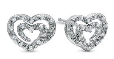 Shared Heart Diamond Earrings