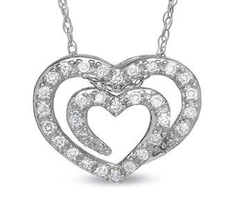 Shared Heart Diamond Pendant