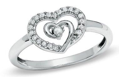Shared Heart Diamond Ring