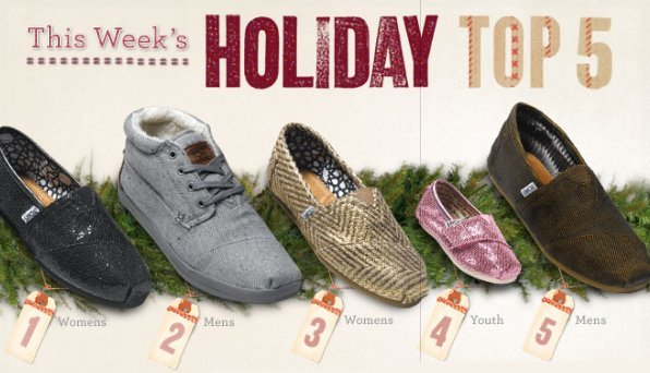 Toms holiday shoes
