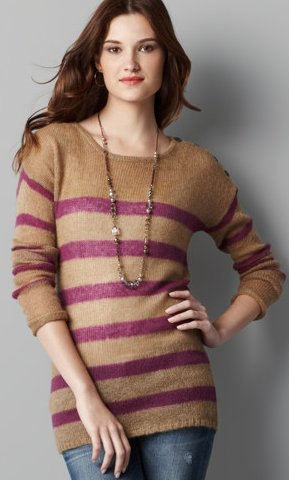 Striped Mohair Tunic