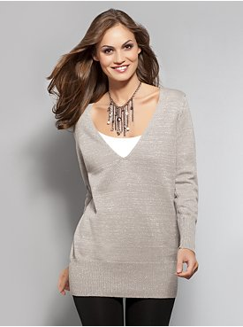 women Metallic Sweater