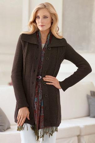 plus size Shawl-Collar Car Coat