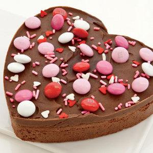 Chocolate Heart Brownie