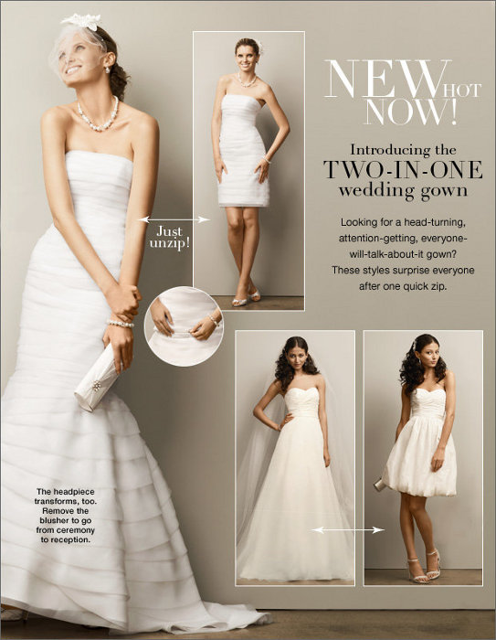 As the name suggests a TwoinOne Wedding Gown by David 39s Bridal is a