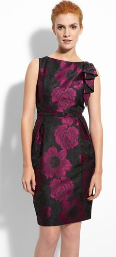 Eliza J Sleeveless Brocade Sheath Dress