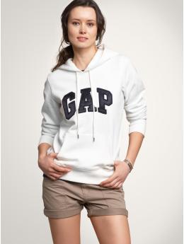 Gap satin arch logo hoodie