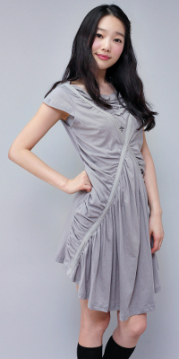 Gray Ruched Dresses by Beny & Hizzin