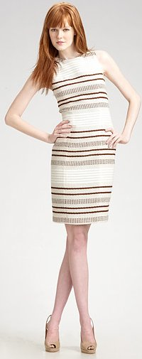 Lotusgrace Fitted Linen Sheath Dress