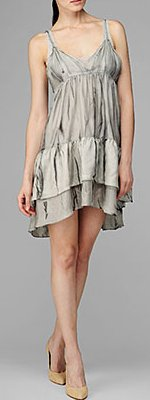 Tiered Ruffle Dress in Slate Grey