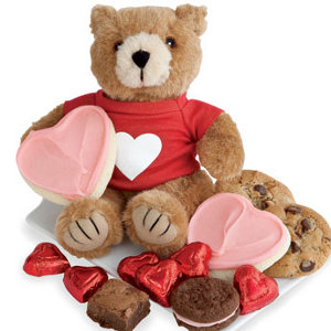 Valentines Bear And Cookies