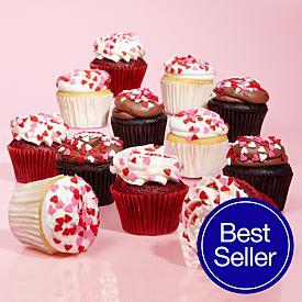 Valentines Cupcake Sampler - 12 Count
