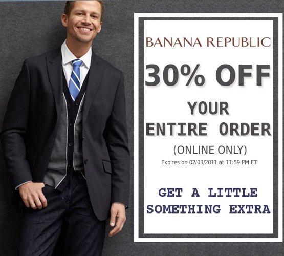 banana republic offer