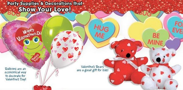 giant party store valentine supplies