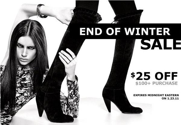 Heels.com End of winter sale
