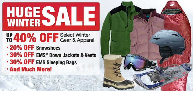 Eastern Mountain Sports huge winter sale
