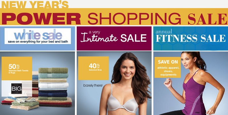 kohls new year power shopping sale