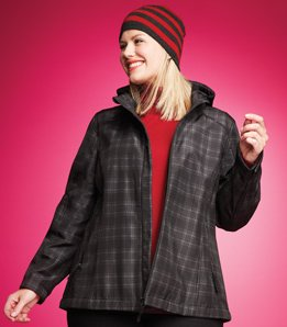 Plaid Plus-size Jacket
