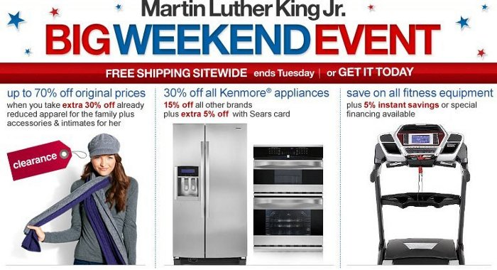 sears martin luther king jr sale