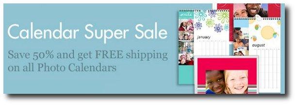 snapfish calendar sale