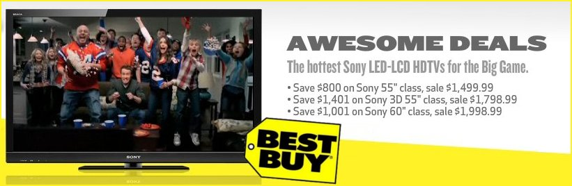 Big Discounts on Sony LED-LCD HDTVs