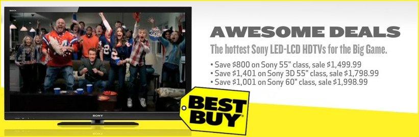 Big Discounts on Sony LED-LCD HDTVs