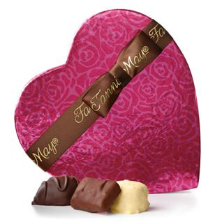 Pink Heart Box Assorted Chocolates