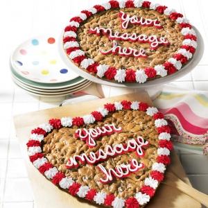 valentine cookie cake gift