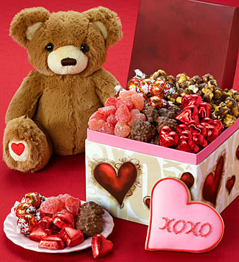 Valentine's Day Teddy Bear & Sweets