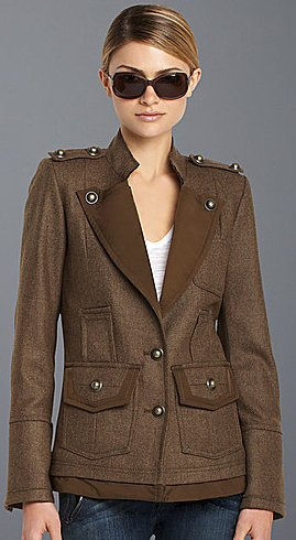 BCBGMAXAZRIA Wool Military Coat