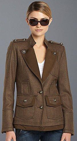BCBGMAXAZRIA Wool Military Coat