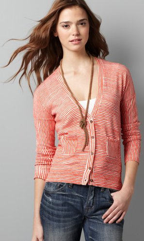 Front Pocket Stripe Cardigan