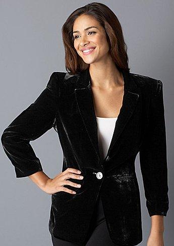 Kenneth Cole New York women Velvet Jacket