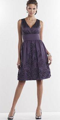 Jessica Howard Pleated Taffeta Dress
