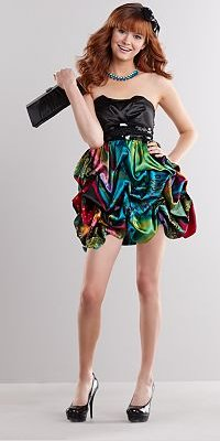 Speechless Taffeta Sequin Pick Up-Style Strapless Dress