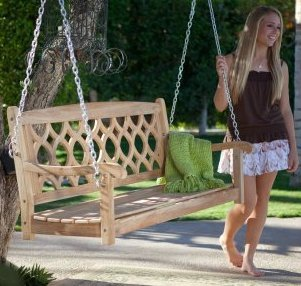 Theia Teak Wood Porch Swing