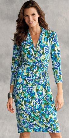 Shape Benefits Faux-Wrap Dress