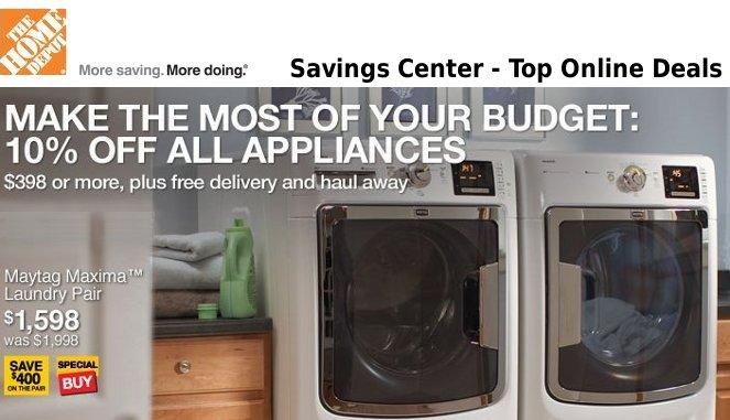 home depot savings center