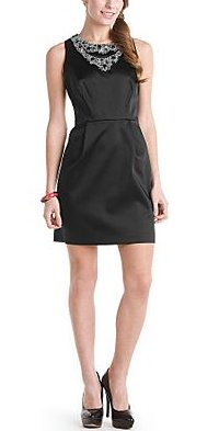Laundry by Shelli Segal Black Jeweled Dress