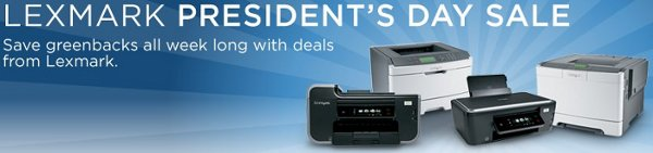 lexmark presidents day sale