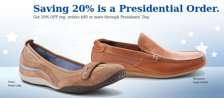 online shoes president day event