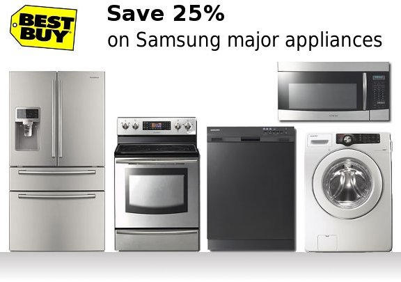 Bestbuy com offering 25 discount on samsung appliances