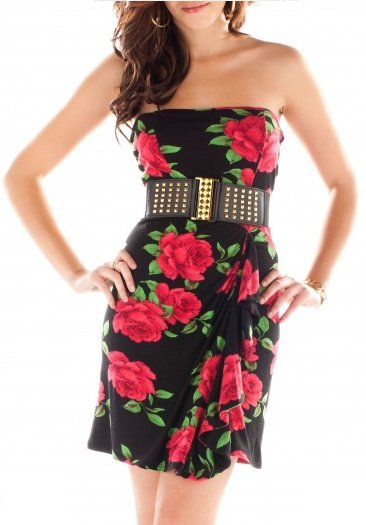 Love Story Belted Tube Dress